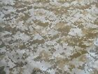 "Military camo camouflage fabric US Marine Desert Digital poly cotton 1 yd x 60""w"