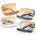 Spring Hinge Metal Folding Reading Glasses Reader Easy Care Women Men Hard Case
