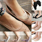 Lady Women Girls Cotton Lace Antiskid Invisible Liner No Show Peds Low Cut Socks