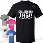 65th Birthday Established 1950 Original Parts Funny T-Shirt Gifts Mens Womens