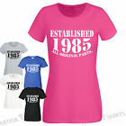30th Birthday Established 1985 Original Parts Funny T-Shirt Gifts Mens Womens
