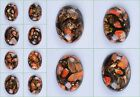 40mm Orange sea sediment jasper copper cab cabochon