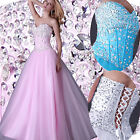 Bling~ Diamante Corset Evening/Formal/Bridesmaid/Ball gown/Party/Prom Long Dress