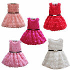 Flower Girl Princess Pageant Wedding Bridesmaid Party Communion Tulle Dress 2-6Y