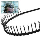 Cool Mens Metal Toothed Sports Football Soccer Hair Headband Alice band Black
