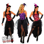 Moulin Rouge Burlesque Can Can Girl Fancy Dress Costume Dress Gloves & Hat