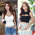 Fashion Sexy Womens Ladies Strape Sleeveless Crop Top Slim Fitted Tank Cami Vest