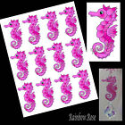 Transparency #70 SEAHORSE 70mm PINK UN-CUT 2, 4 or 8  suncatcher 3D CRAFT film
