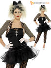 80s Pop Star Fancy Dress Ladies 1980s Madonna Celebrity Womens Costume Outfit