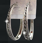Zebra Silver Frosted Big Hoop Earrings for Womens Fashion Bridal Jewelry 1-3pair
