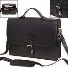 High Quality Mens Ladies Real Leather Business Briefcase Brief Case Black Brown