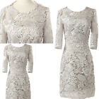 new Mother of the bride/groom LACE Short dress women Evening Wedding Masquerade