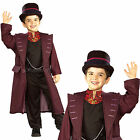 Boys Official Willy Wonka Rubies New Fancy Dress Costume Jacket & Top Hat Outfit
