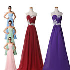 STOCK Long Evening Ball Gown Prom Dress Pageant Party Bridesmaid Dress ALL SIZE