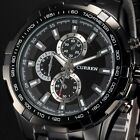 Curren Luxury Mens Sport Stainless Steel Strap Quartz Analog Watch + Bookmark