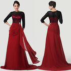NEW LONG 3/4 Sleeve Vintage Wedding Dress Mother of the Bride Evening Prom Dress