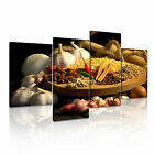 INDIAN SPICE PEPPER CURRY Canvas Framed Print Restaurant Deco ~ 4 Panels