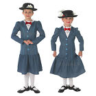 Girls Disney Mary Poppins Rubies New Nanny Childrens Outfit Dress & Hat Costume