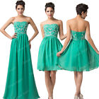 Formal Long/short Evening Ball Gown Party Prom Bridesmaid Dress Stock Size 6-20