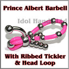 Ribbed Tickler With Ribbed Loop Prince Albert Barbell / PA BB /