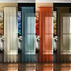 "Rod Pocket Voile Curtain Panel, Retro Style Curtains, Bermuda, 54"" 72"" 90"""