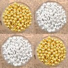 Wholesale Silver Gold plating Stardust Copper Ball Spacer Beads 3/4/5/6/8/10mm