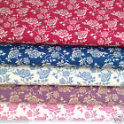 per 1/2 Mtr / fat quarter TRAILING ROSE  100% cotton fabric dressmaking craft