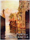 4846.Punta di Balbianello.woman walking downstairs.POSTER.Decoration.Graphic Art