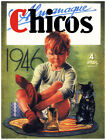 4865.Almanaques Chicos.boy putting shoes on.kitten.POSTER.Decoration.Graphic Art
