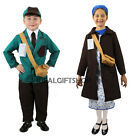 EVACUEE BOY GIRLS FANCY DRESS COSTUME WAR HISTORY HISTORICAL WORLD BOOK WEEK DAY