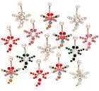 New Surgical Steel Novelty Gem Jewel Dragonfly Belly Naval Bar Barbell Stud 14g