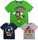 Boys Mickey Mouse T Shirt Kids Disney Short Sleeve Top New Age 3 4 6 8 Years