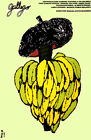 4956.Gallego.bunch of bananas on french hat.POSTER.Decoration.Graphic Art