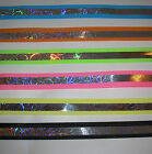 "5 yards of Razzle 7/8"" Wide Offray Grosgrain Reflective Ribbon 6 Assorted Colors"