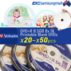 Total 20~50disks // Verbatim printable DVD+R DL 8.5GB 8X Dual Layer