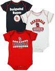 MLB Baseball Infants St. Louis Cardinals 3 Pack Set Bodysuit Romper