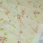 PER FQ/1/2 metre Cream Beautiful Rose dressmaking/craft fabric 100 % cotton
