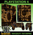 PS4 PLAYSTATION 4 CONSOLE STICKER STEAMPUNK GEARS COGS SKIN + 2 X PAD SKINS