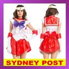 Red Sailor Moon Costume Cosplay Uniform Fancy Dress Up Hens Party Outfit Glove