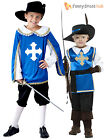 Boys Medieval French Musketeer Historical Kids Book Week Day Fancy Dress Costume