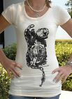 Chained to the Rose Long Peach T Shirt SMLXL Original Art