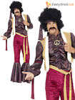 Adult Mens 70s Psychedelic Rocker Flares Costume  Disco Fancy Dress Jimi Hendrix