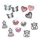 SCARF HANGERS *ROSE, BUTTERFLY, HEART, OWL & DRESS DESIGNS - VARIOUS COLOURS*