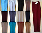 NEW LADIES SIZES 6-26 POLYESTER PLAIN SHORT LENGTH ELASTICATED PULL ON TROUSER