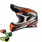 ONEAL 2015 Motocross Helm 3series Hurricane Orange + Mx-Bude-Brille Motocross