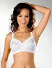 Lace Cups Bra Firm Control White Plus Sizes 34 36 38 40 42 44 46 48 B C D DD E F