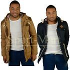 Mens Soulstar Cord Patch Tartan Lined Hooded Padded Puffer Winter Jacket Size