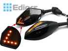 FRONT&BACK BEADED LED TURN SIGNALS INTEGRATED INDICATOR REARVIEW RACING MIRRORS