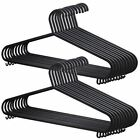 BLACK ADULT PLASTIC CLOTHES COAT TROUSERS HANGERS W TROUSER BAR & LIPS