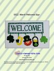Leprechaun-St. Patrick's Day-March Welcome Sign Plastic Canvas Pattern or Kit